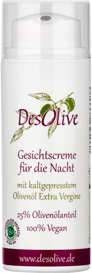 Face cream for the night with cold-pressed organic olive oil 50ml