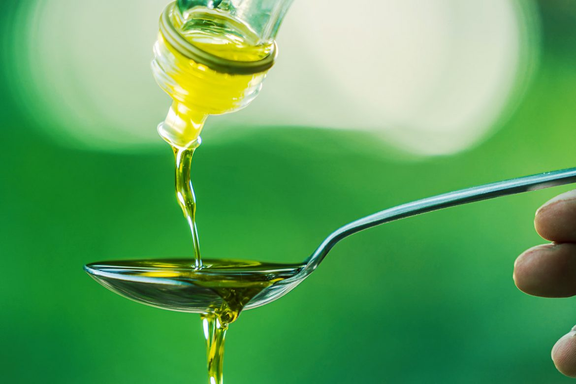 Olive oil for mouth rinse